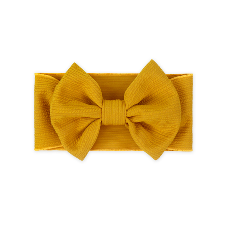 Picture of Wide Elastic Bowtie Headband Yellow