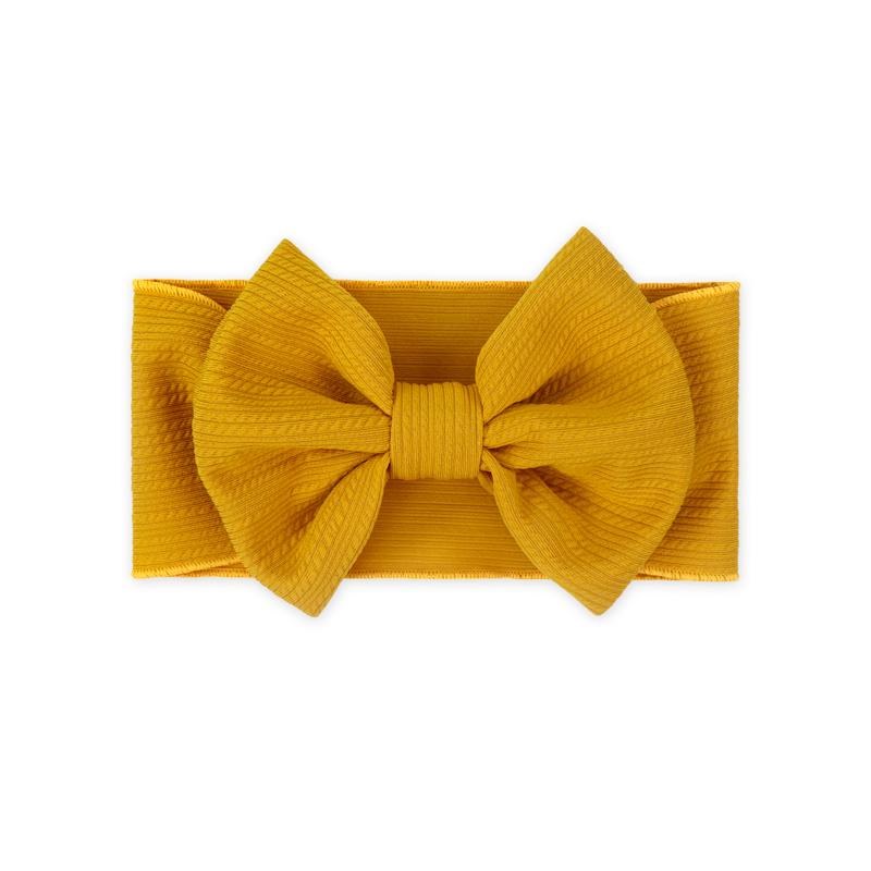 Picture of Wide Elastic Bowtie Headband Yellow