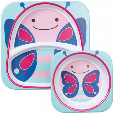 Picture of Skip Hop® Melamine Plate&Bowl Set Butterfly