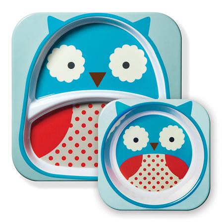 Picture of Skip Hop® Melamine Plate&Bowl Set Owl