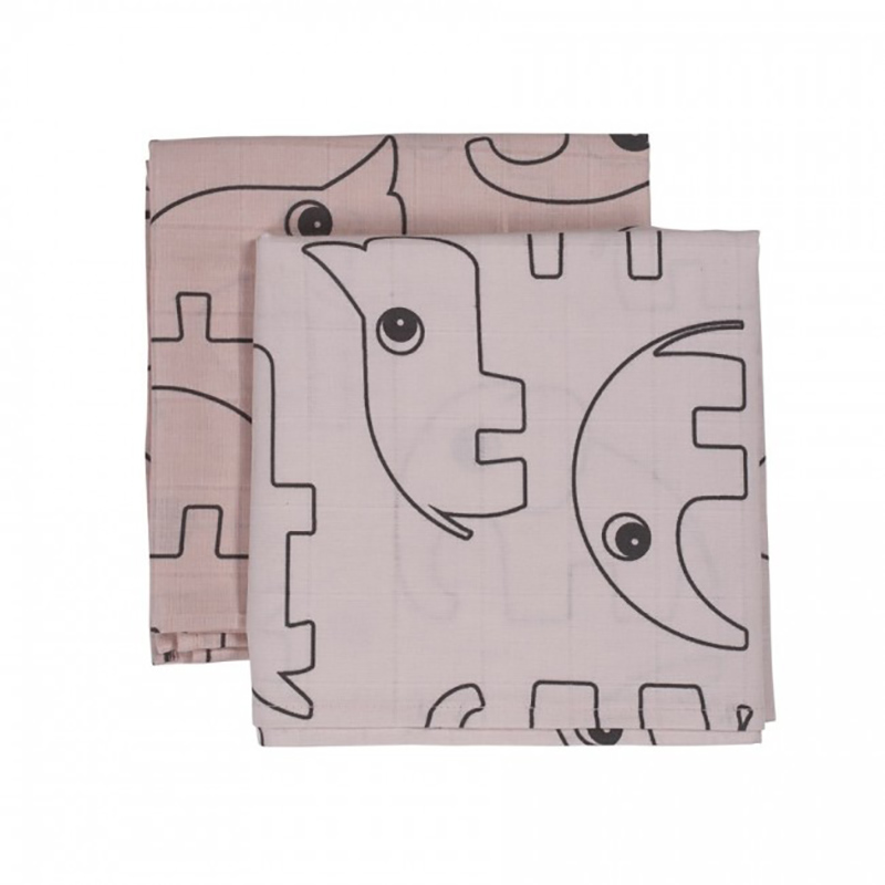 Picture of Done by Deer®  Burps Cloth 2-Pack Contour