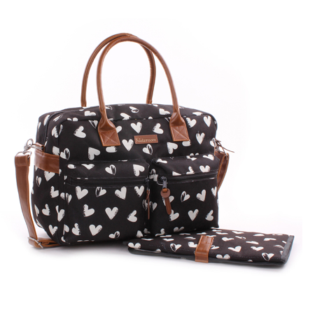 Picture of Kidzroom® Changing Bag Black&White hearts