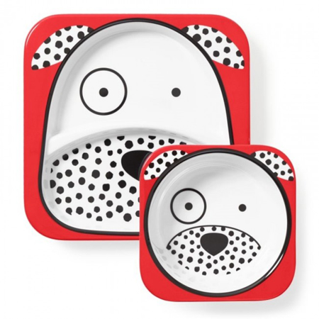 Picture of Skip Hop® Melamine Plate&Bowl Set Dalmatian