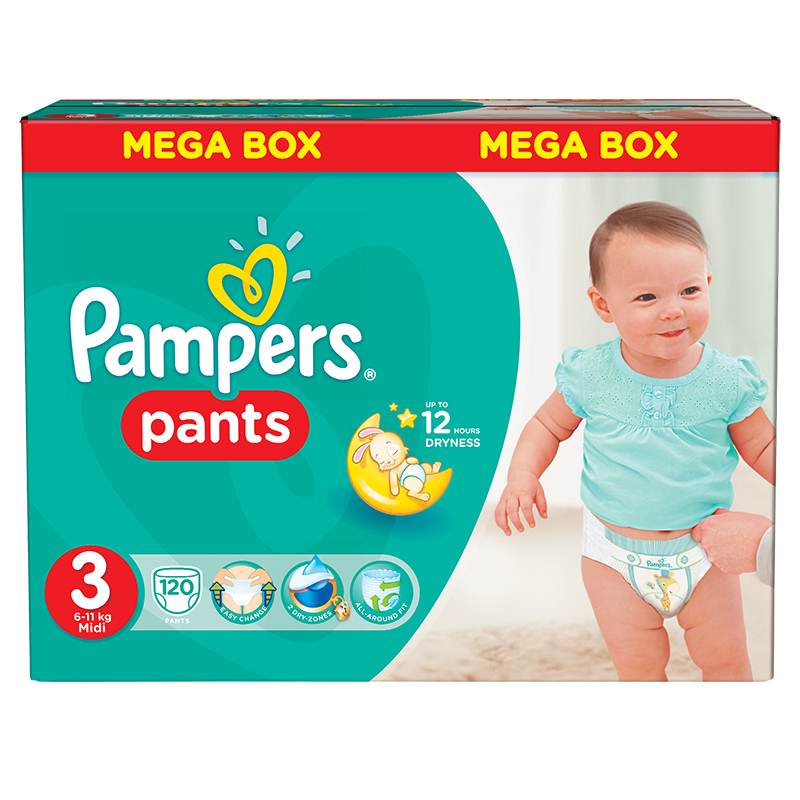 Picture of Pampers® Pants Diapers Size 3 (6-11kg) 120 Pcs.