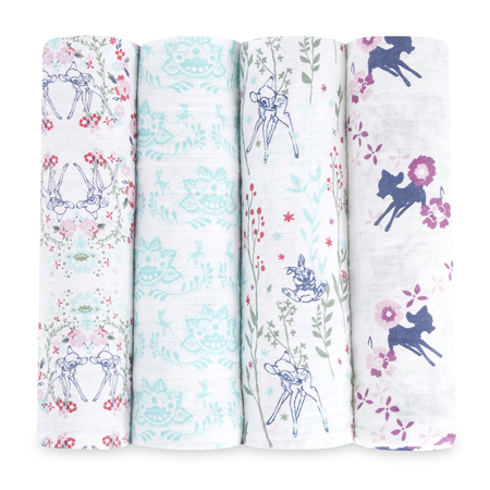 Picture of Aden+Anais® Classic Swaddle Set 4-Pack Bambi (120x120)