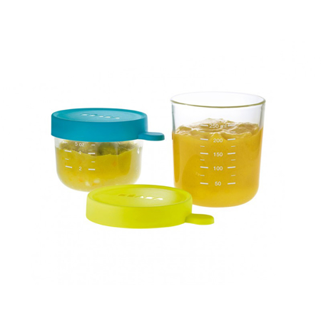 Picture of Beaba® Glass&Silicone Containers 2-Set Blue/Neon