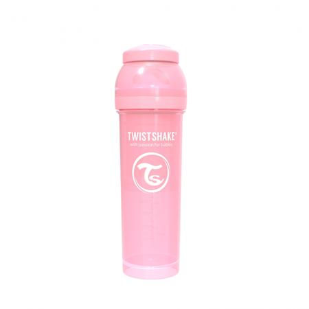Picture of Twistshake Anti-Colic Bottle 330ml (4+M) - Pastel Pink