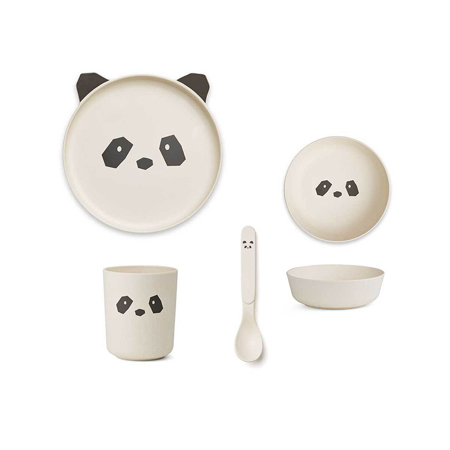 Picture of Liewood® Bamboo Tableware Box Set - Panda Creme De La Creme