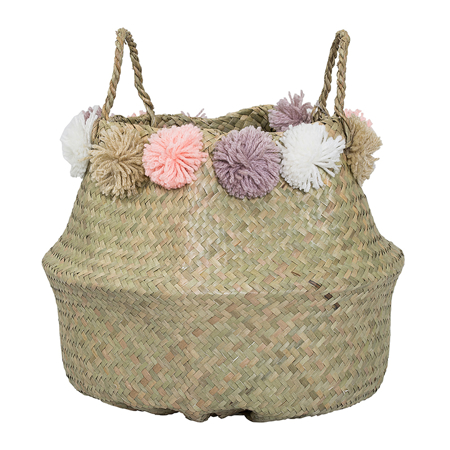 Picture of Bloomingville® PomPom Basket Pink