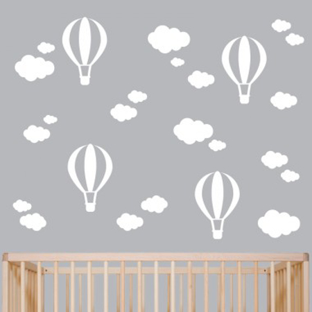 Picture of Pick Art Design® Wall Sticker White Balloons&Clouds