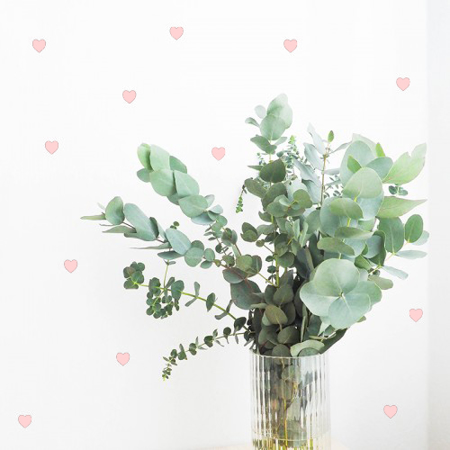 Picture of Pick Art Design® Wall Sticker Pastel Rose Hearts