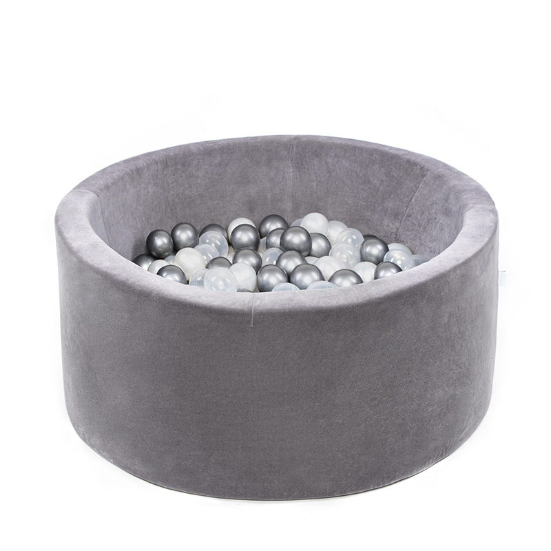 Picture of Misioo® Ball Pit With 200 Balls Grey Velvet Collection