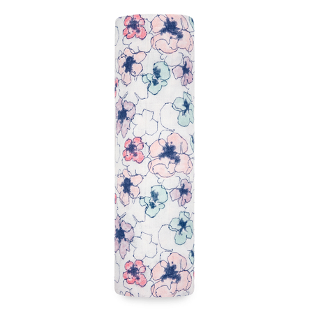 Picture of Aden+Anais® Silky Soft Swaddle  Trail Blooms Flora (120x120)