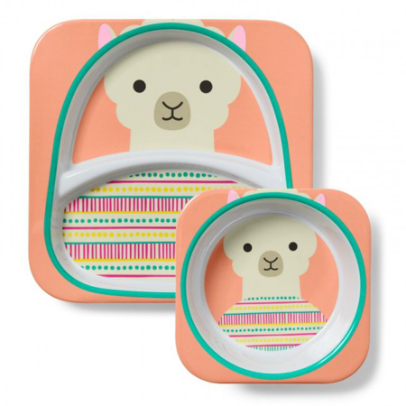 Picture of Skip Hop® Melamine Plate&Bowl Set Lama