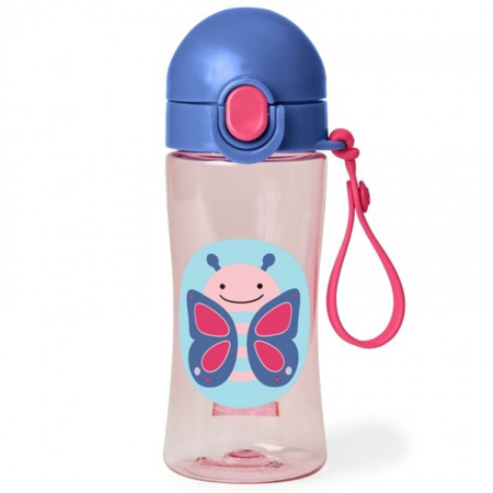 Picture of Skip Hop® Lock-Top Sports Bottle Butterfly
