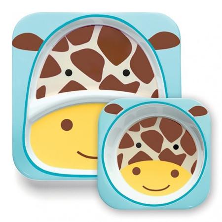 Picture of Skip Hop® Melamine Plate&Bowl Set Giraffe