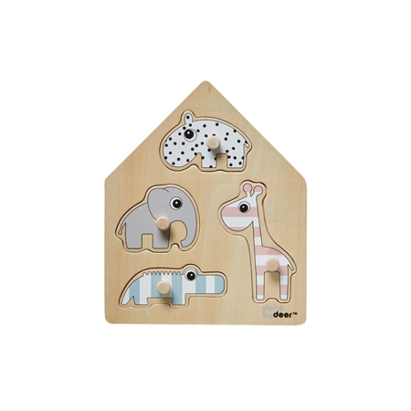 Picture of Done by Deer® Peg Puzzle Deer Friends