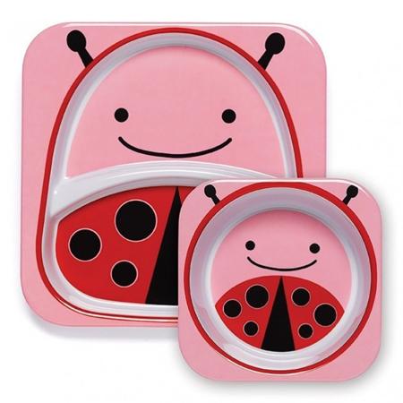 Picture of Skip Hop® Melamine Plate&Bowl Set Ladybug
