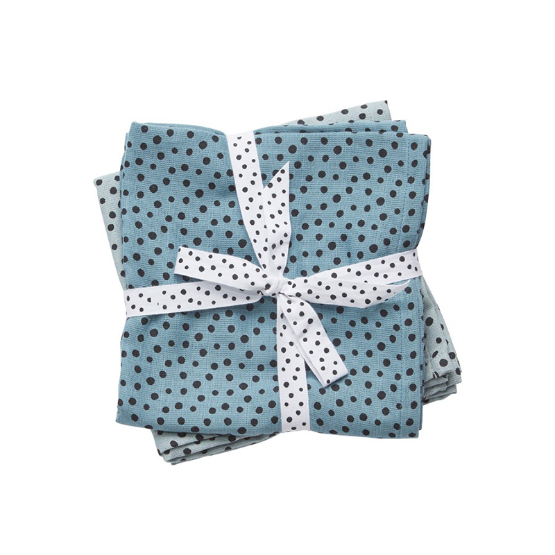 Picture of Done by Deer® Swaddles 2-Pack Happy Dots 120x120