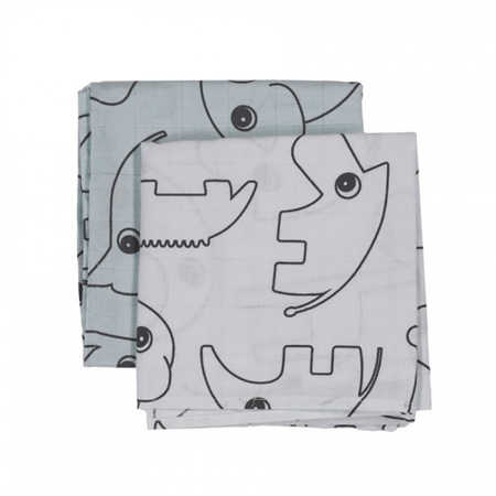 Picture of Done By Deer Burps Cloth 2-Pack Contour - Blue