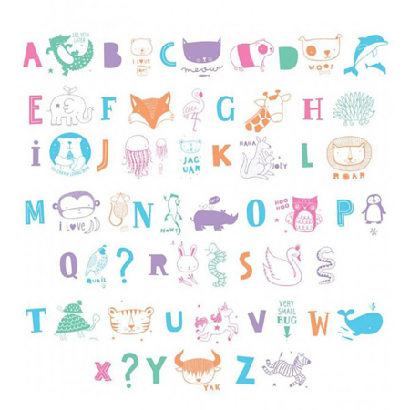 Picture of A Little Lovely Company® Lightbox Set - ABC Pastel