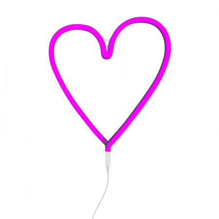 Picture of A Little Lovely Company® Neon Style Light Heart - Pink