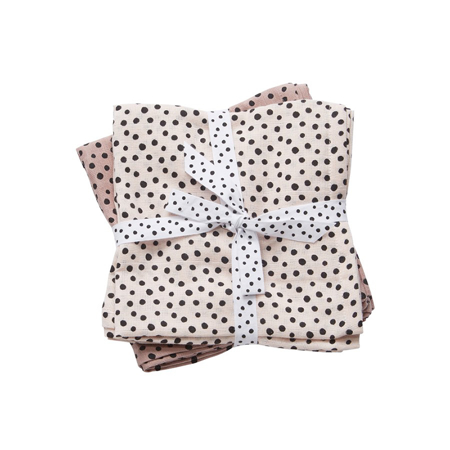 Picture of Done By Deer Swaddles 2-Pack Happy Dots - Powder