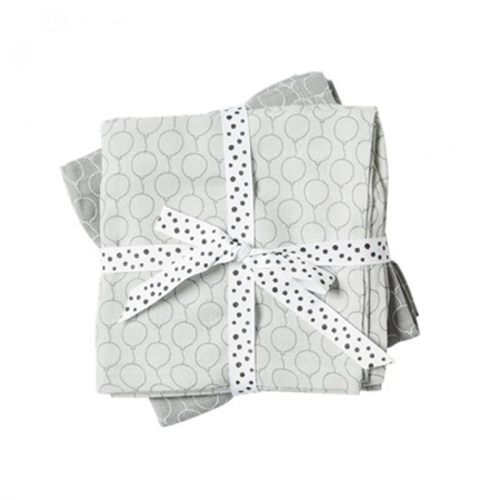 Picture of Done By Deer Swaddles 2-Pack Balloon - Grey