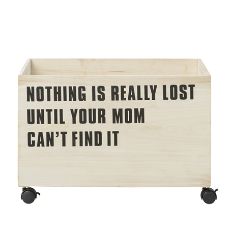 Picture of Bloomingville® Toy Storage Box Nothing Is Really Lost