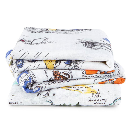 Picture of Aden+Anais® Muslin Squares 3-Pack Winnie The Pooh (70x70)