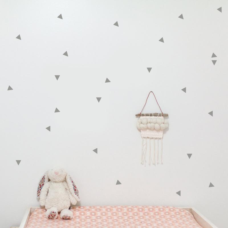 Picture of Pick Art Design® Wall Sticker Grey Triangles