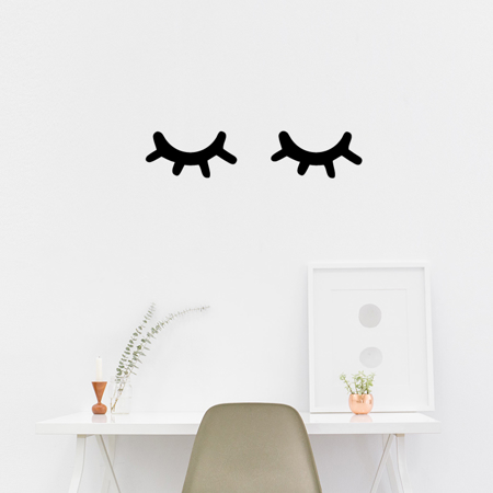Picture of Pick Art Design® Wall Sticker Sleepy Eyes Black