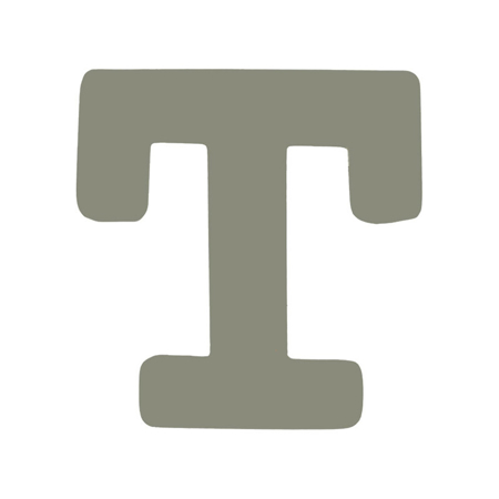 Picture of BamBam® Wooden Letters Grey - T