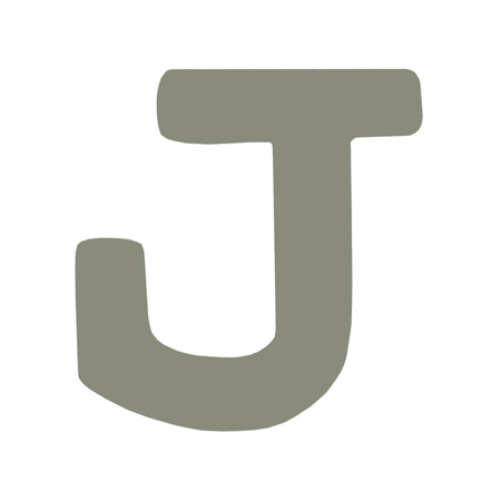 Picture of BamBam® Wooden Letters Grey - J
