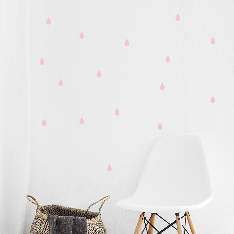 Picture of Pick Art Design® Wall Sticker Raindrops Pastel Rose