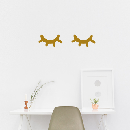 Picture of Pick Art Design® Wall Sticker Sleepy Eyes Gold