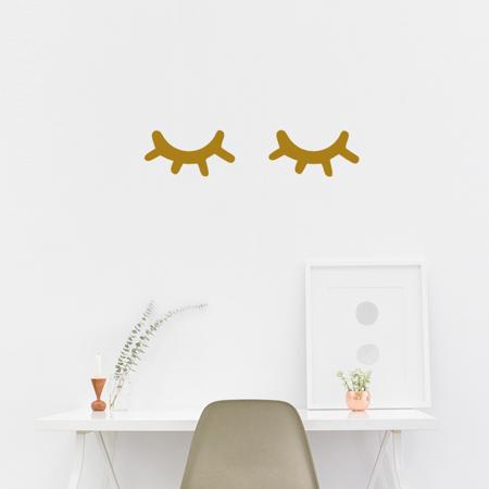 Immagine di Pick Art Design® Adesivo da parete Sleepy eyes Gold