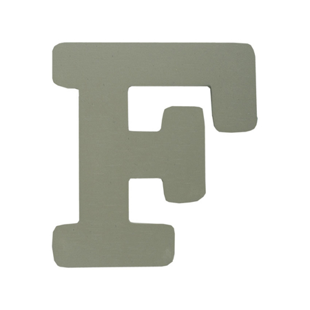 Picture of BamBam® Wooden Letters Grey - F