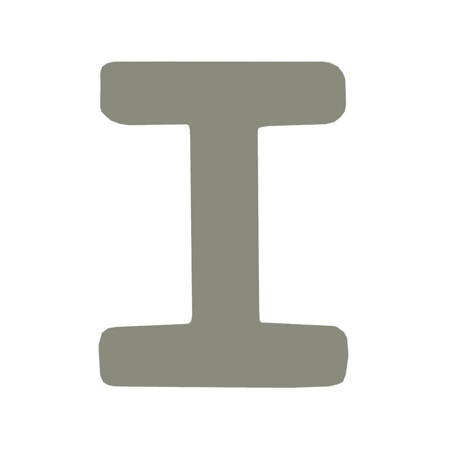 Picture of BamBam® Wooden Letters Grey - I