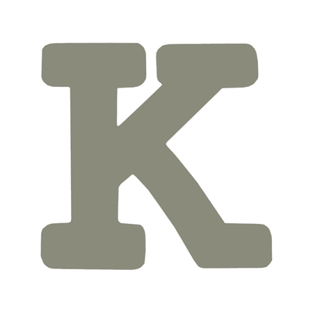 Picture of BamBam® Wooden Letters Grey - K