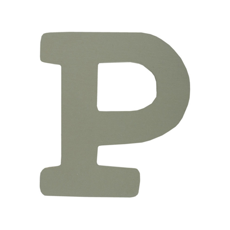 Picture of BamBam® Wooden Letters Grey - P