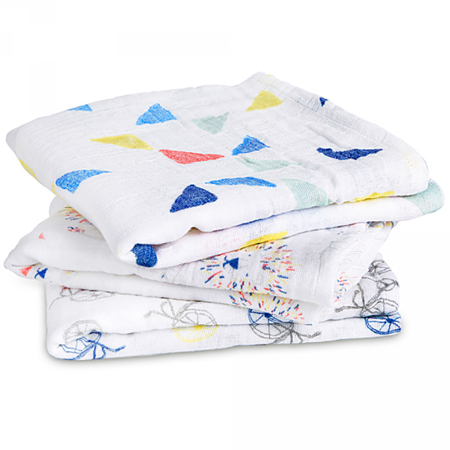 Picture of Aden+Anais® Muslin Squares 3-Pack Leader Of The Pack (70x70)