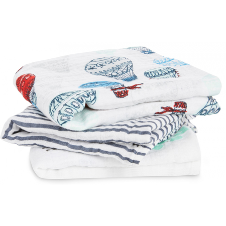Picture of Aden+Anais® Muslin Squares 3-Pack Dream Ride (70x70)