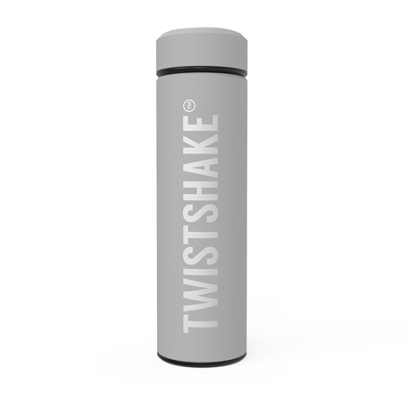 Picture of Twistshake Hot Or Cold Insulated Bottle 420ml - Pastel Grey