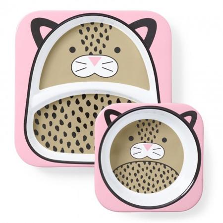 Immagine di Skip Hop® Set scodella e piattino Leopardo