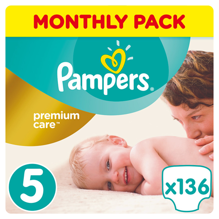 Picture of Pampers® Pants Diapers Premium Care Size 5 (11-16 kg) 136 Pcs.