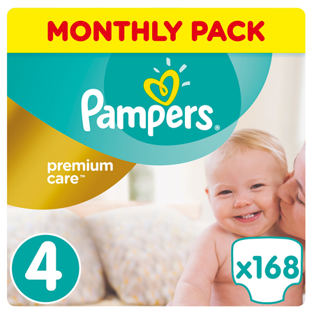 Picture of Pampers® Pants Diapers Premium Care Size 4 (9-14 kg) 168 Pcs.