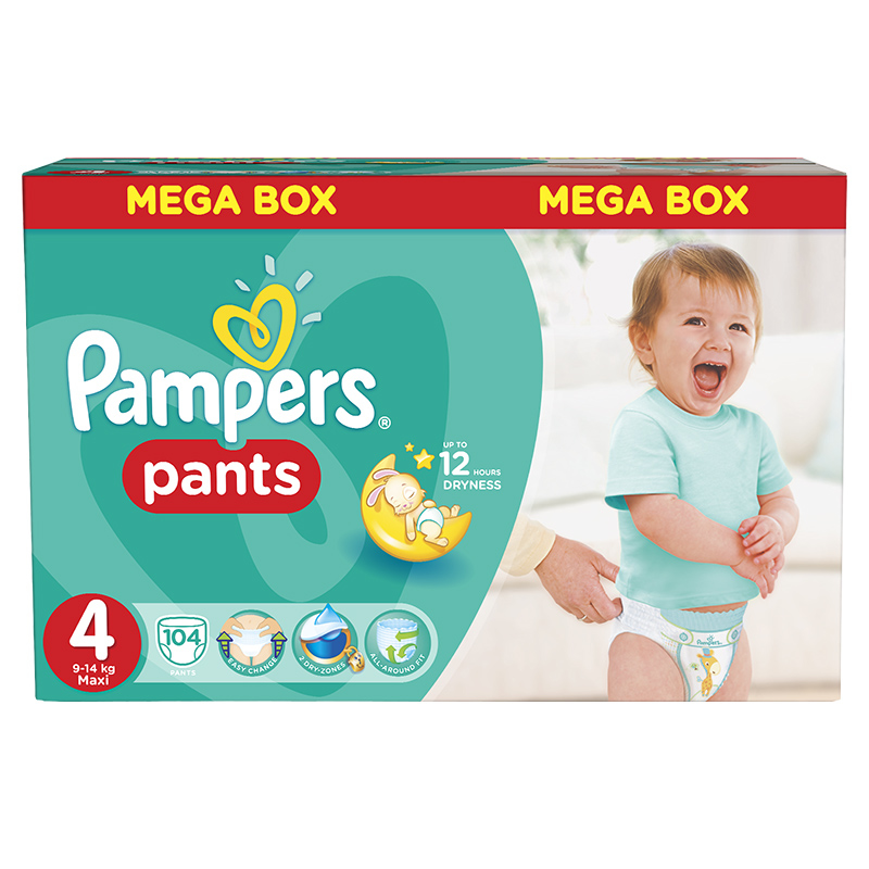 Picture of Pampers® Pants Diapers Size 4 (9-14kg) 104 Pcs.