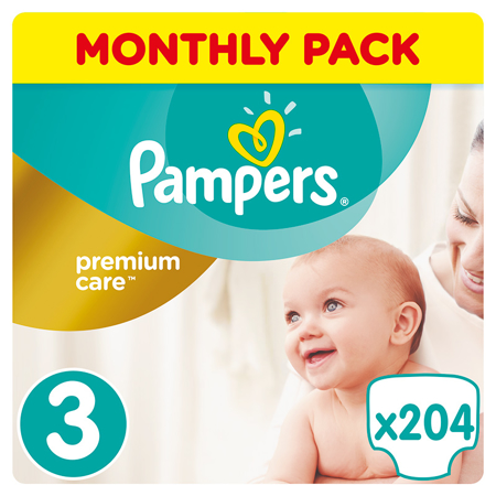 Picture of Pampers® Pants Diapers Premium Care Size 3 (6-10 kg) 204 Pcs.