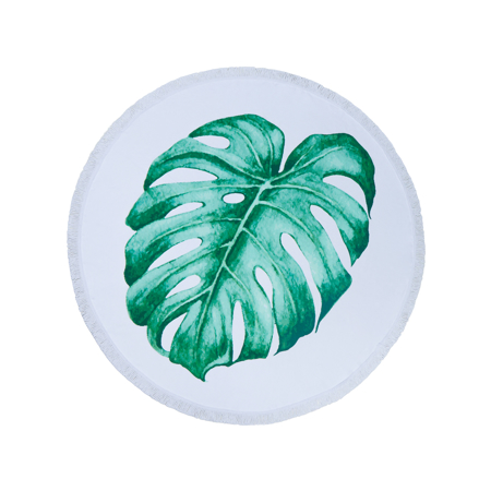 Picture of Olala Round Beach Towel - Cleopatra's Leaf